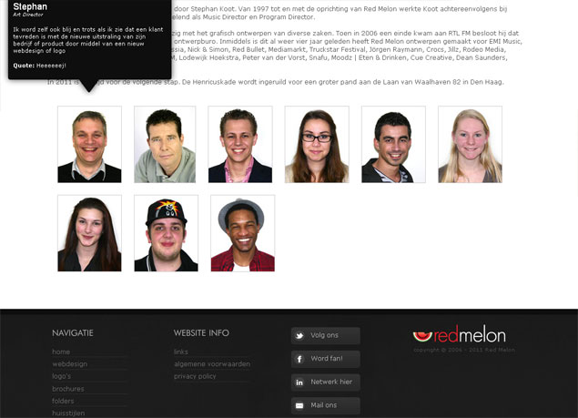 Inspirational Our Team Web Pages