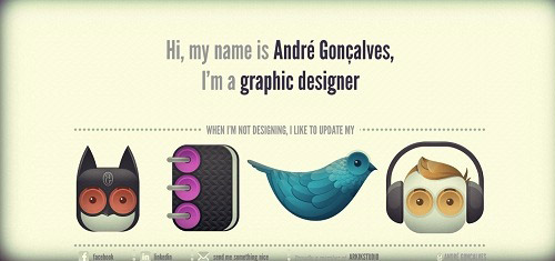 Beautiful Cartoon Style Creative Website Designs