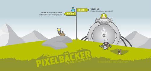 Beautiful Cartoon Style Creative Website Designs