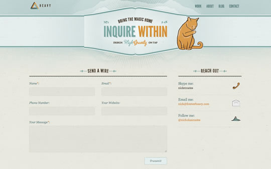 Excellent Examples of Forms in Web Design