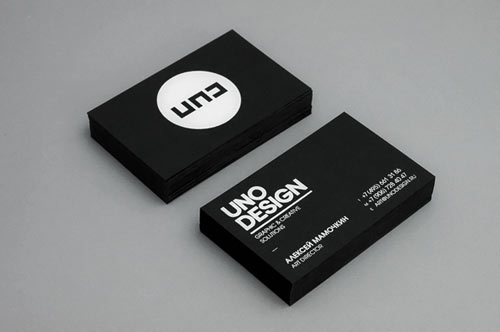 Neat and Cool Collection of Black and White Business Cards