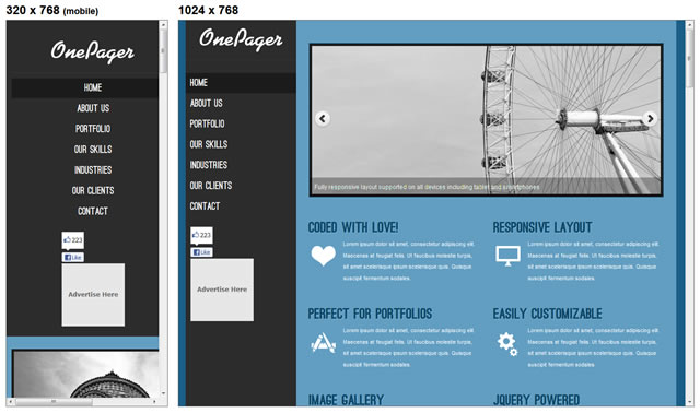 Free Responsive HTML & CSS Templates