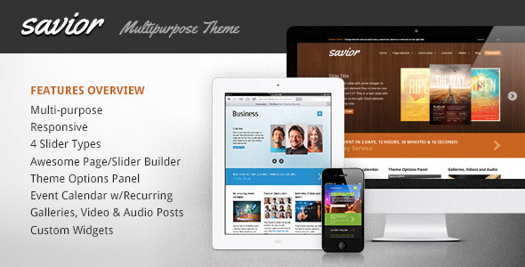 Collection of 30 Inexpensive Responsive WordPress Themes